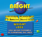 Bright Images Subliminal Weight Loss CD's, Tapes & mp3 Audio Programs