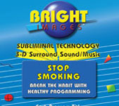 Bright Images Stop Smoking Subliminal Audio cd, tapes & mp3 Programs