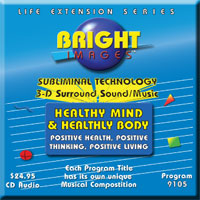 Bright Images Subliminal Healthy Mind & Healthy Body cd, tape & mp3 Audio Programs