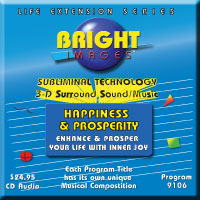Bright Images Subliminal Happiness & Prosperity cd, tape & pr3 Audio Program