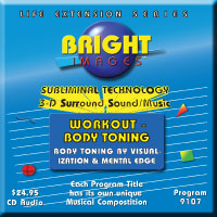 Bright Images Workout & Body Toning cd, tape & mp3 Subliminal Audio Programs