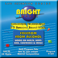 Bright Images Subliminal Freedom From Alcohol CD, Tape and mp3 Audio Programs