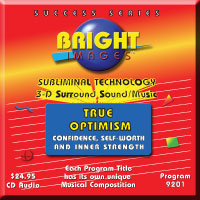 Bright Images True Optimism Subliminal Audio cd, tape & mp3 Programs