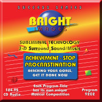 Bright Images Achievement & Stop Procrastination Subliminal Audio cd, tapes and mp3 Programs