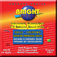 Bright Images Subliminal Sales - Creating Wealth Through Sales Audio Tapes, CD and mp3 Programs