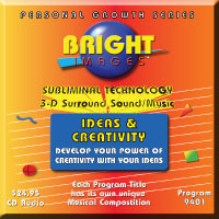 Bright Images Subliminal Ideas & Creativity tapes, cd's and mp3 Audio Programs