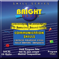 Bright Images Communication Skills Subliminal Tape, CD and mp3 Audio Programs