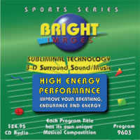 Bright Images High Energy Performance Subliminal Tape, cd and mp3 Audio Programs